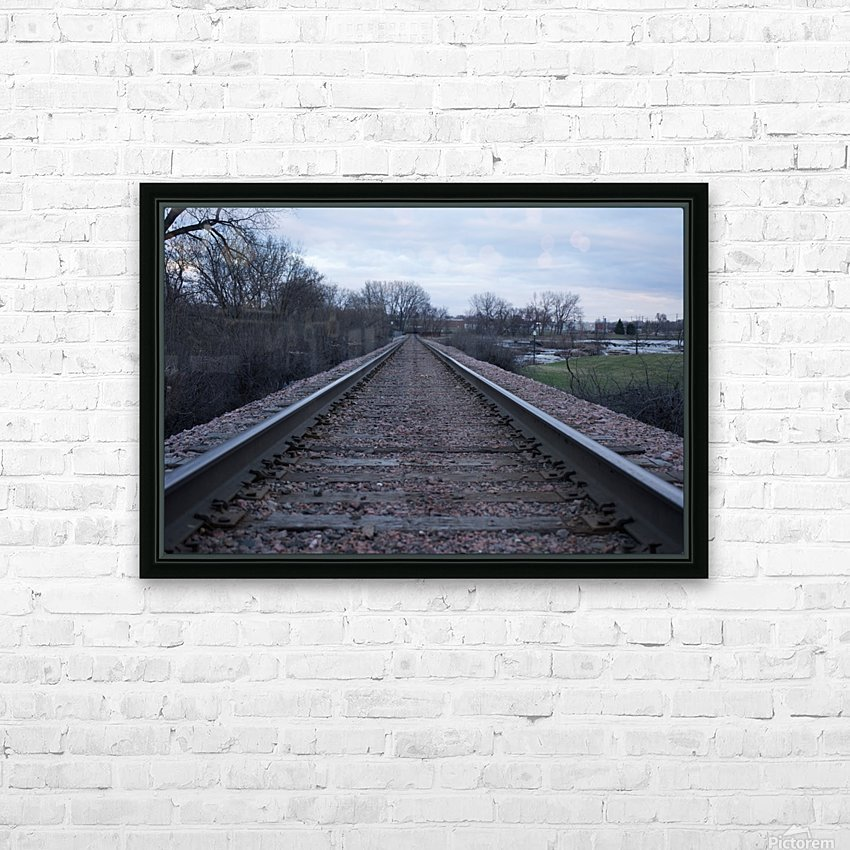 Train Tracks HD Sublimation Metal print with Decorating Float Frame (BOX)