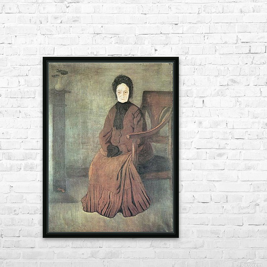 My grandmother by Joseph Rippl-Ronai HD Sublimation Metal print with Decorating Float Frame (BOX)