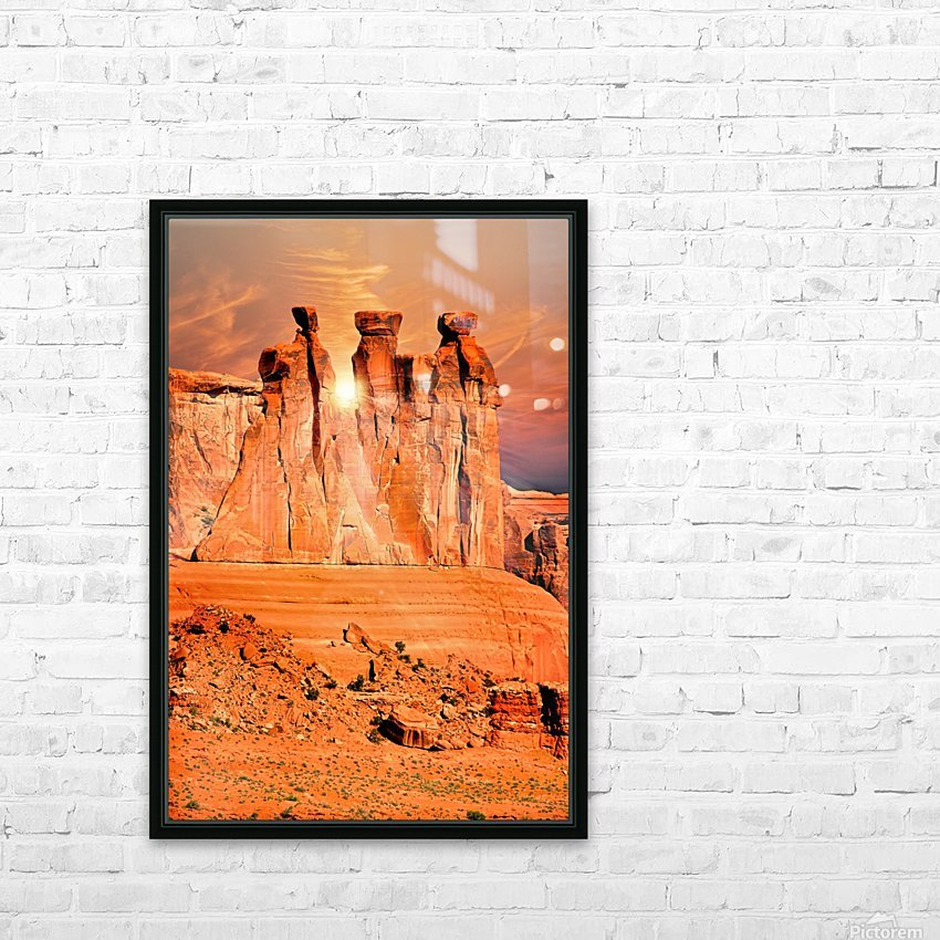 Three Gossips HD Sublimation Metal print with Decorating Float Frame (BOX)