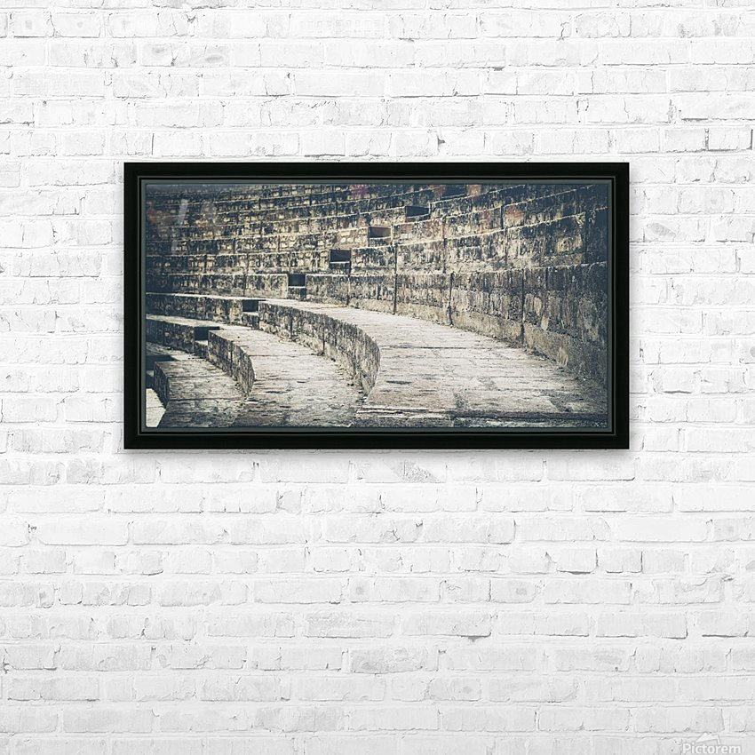 Pompei Amphitheatre stairs HD Sublimation Metal print with Decorating Float Frame (BOX)