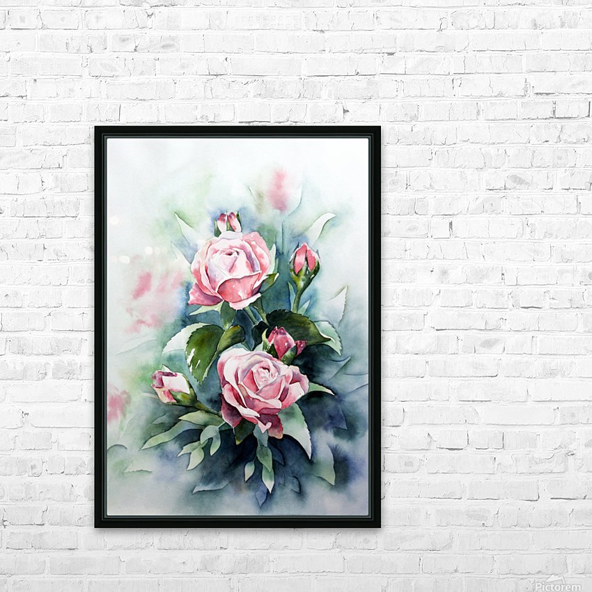 ROSES HD Sublimation Metal print with Decorating Float Frame (BOX)