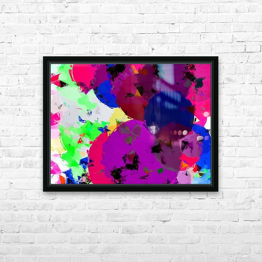 geometric circle pattern abstract in pink blue green HD Sublimation Metal print with Decorating Float Frame (BOX)