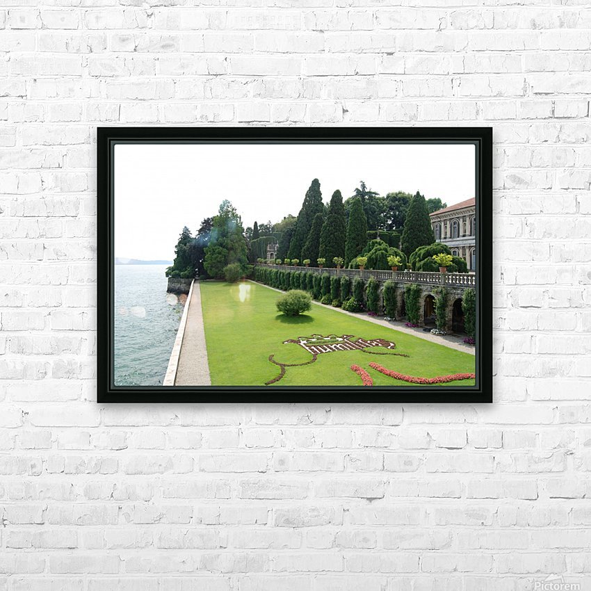 Island Lawn HD Sublimation Metal print with Decorating Float Frame (BOX)