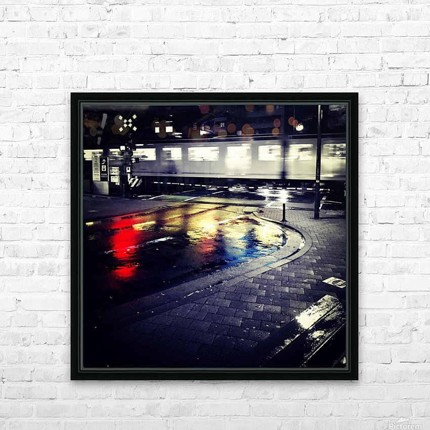Train HD Sublimation Metal print with Decorating Float Frame (BOX)