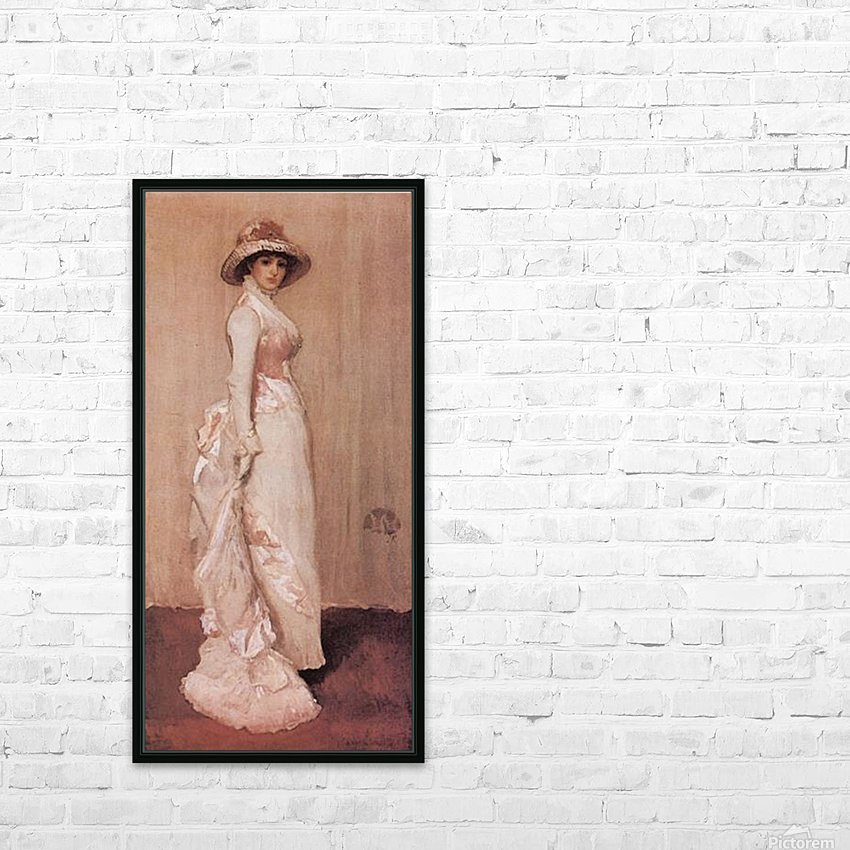 Nocturne in rose and grey by Whistler HD Sublimation Metal print with Decorating Float Frame (BOX)