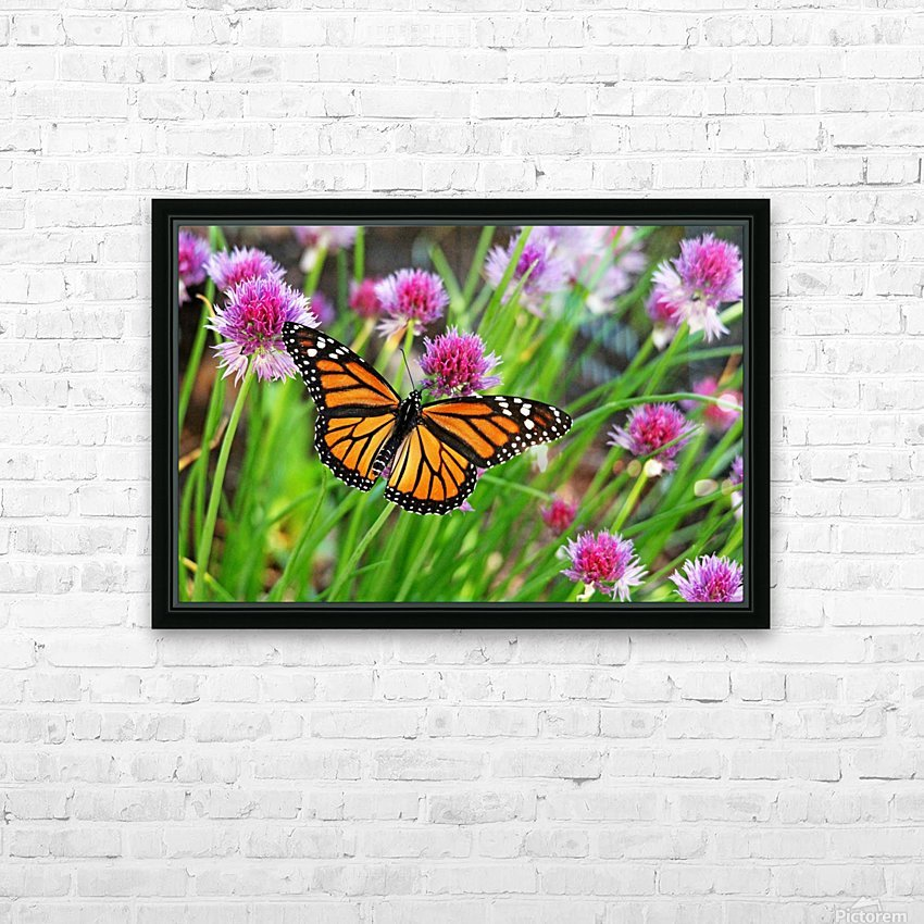 Monarch And Chives HD Sublimation Metal print with Decorating Float Frame (BOX)