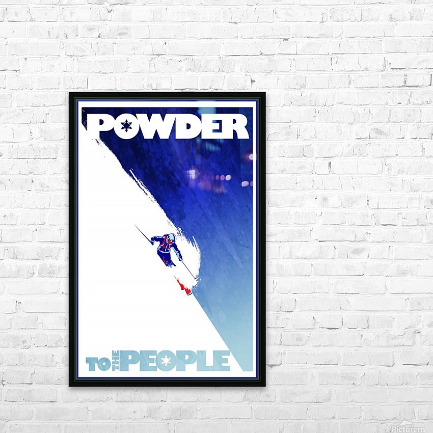 Powder To The People  HD Sublimation Metal print with Decorating Float Frame (BOX)