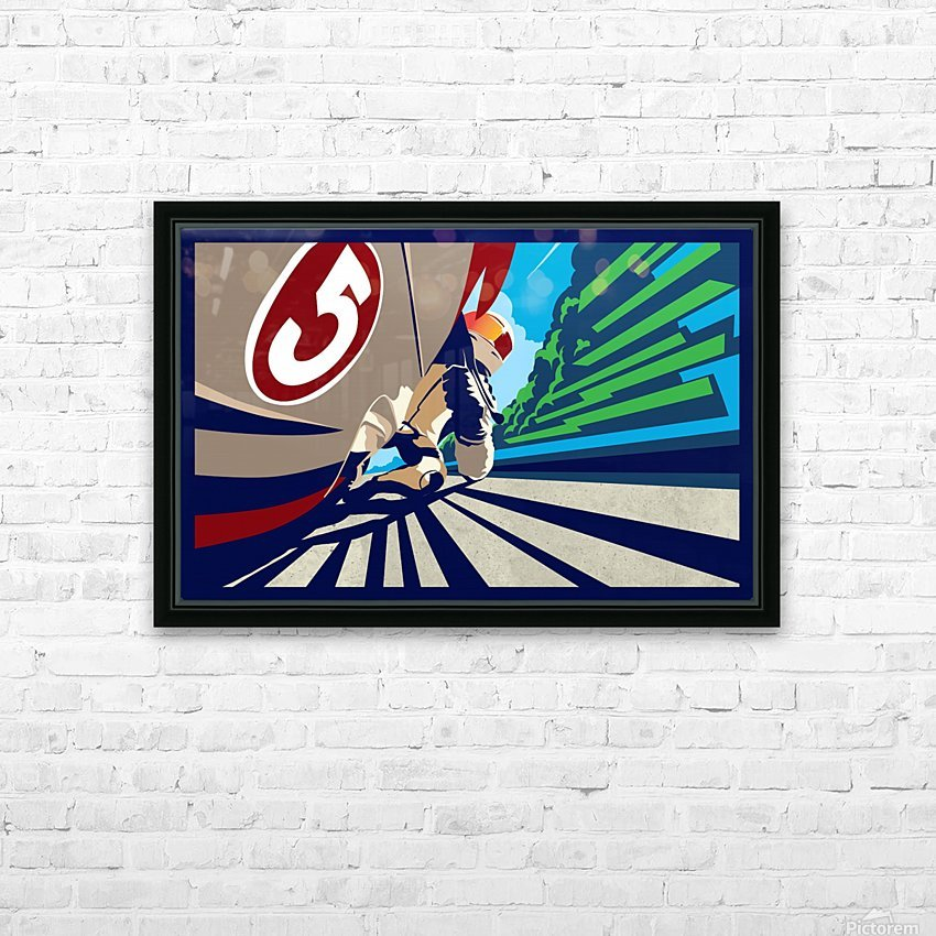 full throttle Motor Racing  HD Sublimation Metal print with Decorating Float Frame (BOX)