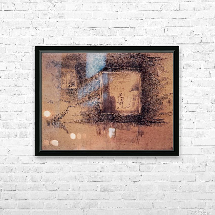 Nocturne, Furnace by Whistler HD Sublimation Metal print with Decorating Float Frame (BOX)