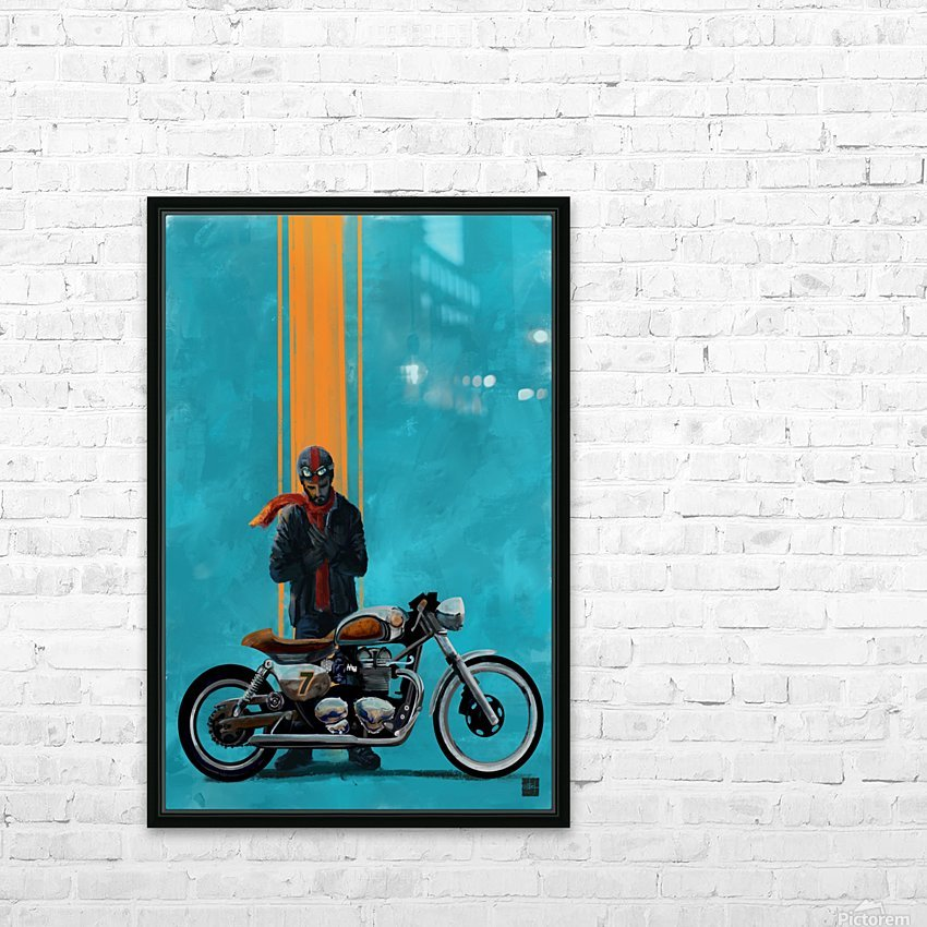 caferacer HD Sublimation Metal print with Decorating Float Frame (BOX)