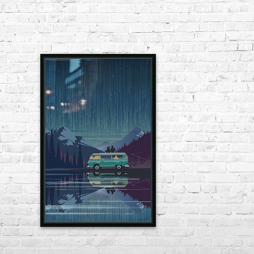 Vanlife under the stars HD Sublimation Metal print with Decorating Float Frame (BOX)