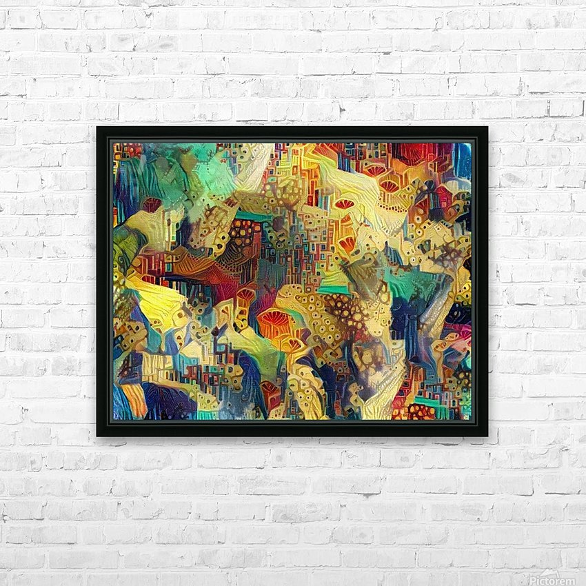 Colorful Abstract Ornament HD Sublimation Metal print with Decorating Float Frame (BOX)