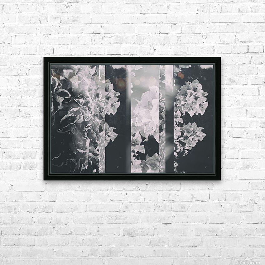 Bougainvillea Collage B&W HD Sublimation Metal print with Decorating Float Frame (BOX)