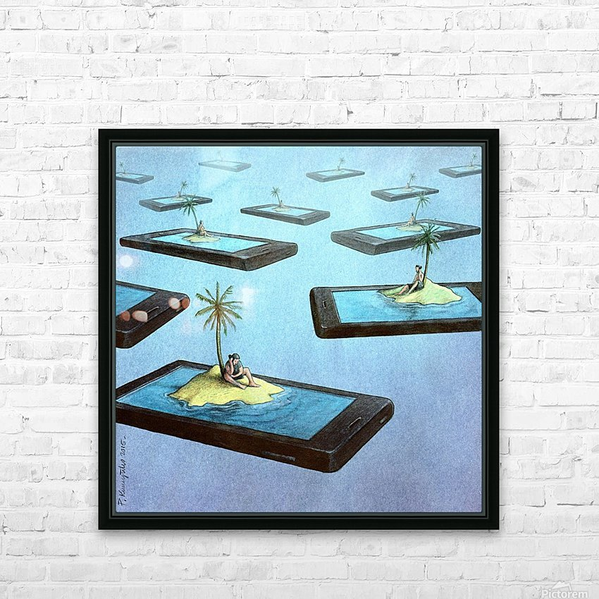 Islands HD Sublimation Metal print with Decorating Float Frame (BOX)