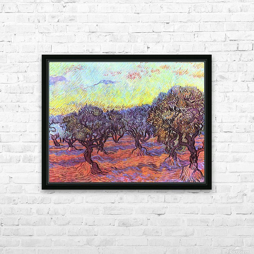 Olive Trees -2- by Van Gogh HD Sublimation Metal print with Decorating Float Frame (BOX)