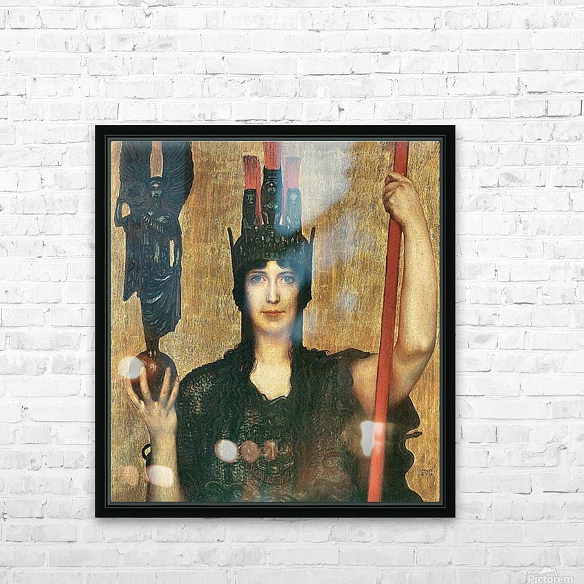 Pallas Athene by Franz von Stuck HD Sublimation Metal print with Decorating Float Frame (BOX)