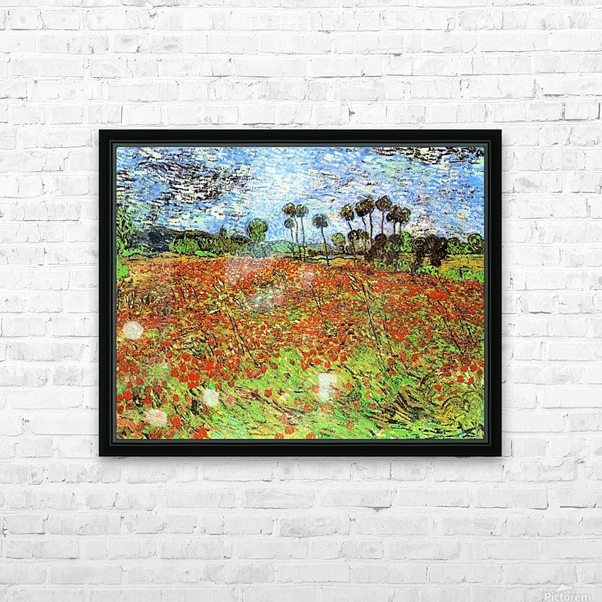 Poppy Fields by Van Gogh HD Sublimation Metal print with Decorating Float Frame (BOX)