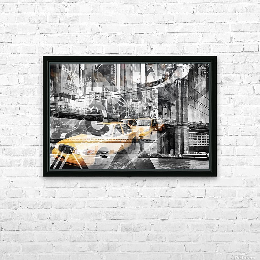 Modern Art NYC Collage HD Sublimation Metal print with Decorating Float Frame (BOX)