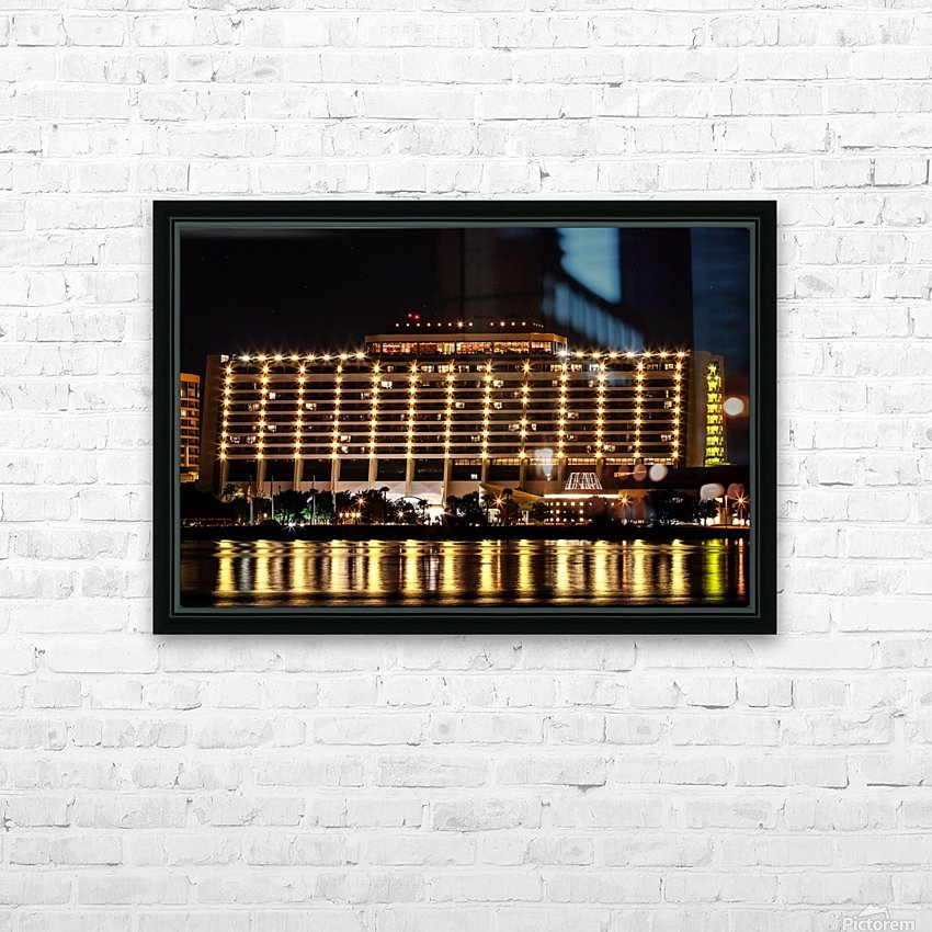 Disneys Contemporary Resort HD Sublimation Metal print with Decorating Float Frame (BOX)