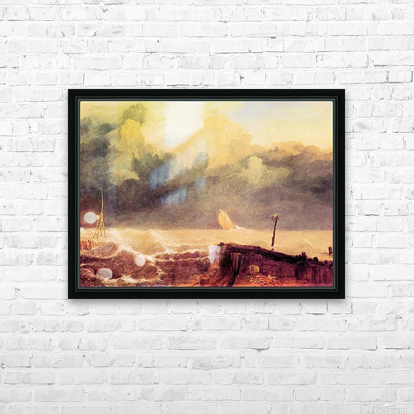 Port Ruysdael by Joseph Mallord Turner HD Sublimation Metal print with Decorating Float Frame (BOX)