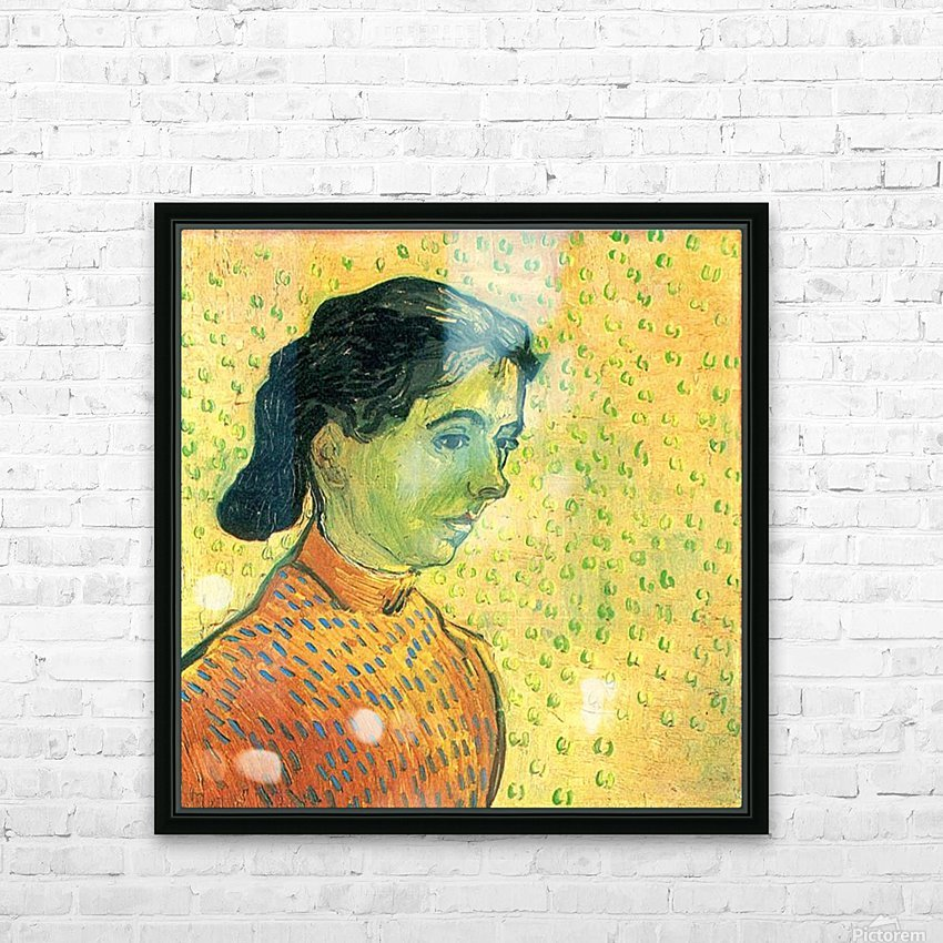 Portrait of a girl by Van Gogh HD Sublimation Metal print with Decorating Float Frame (BOX)