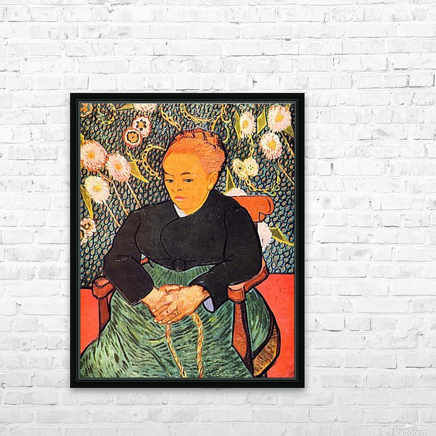 Portrait of Augustine Roulin (La Berceuse by Van Gogh HD Sublimation Metal print with Decorating Float Frame (BOX)