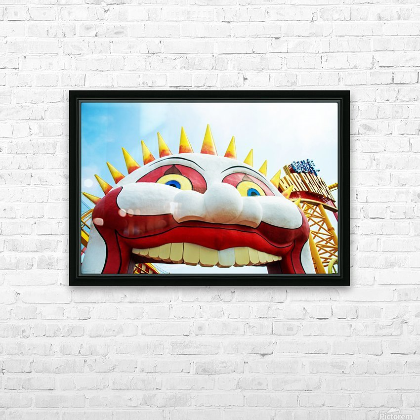 Hong Kong Park HD Sublimation Metal print with Decorating Float Frame (BOX)