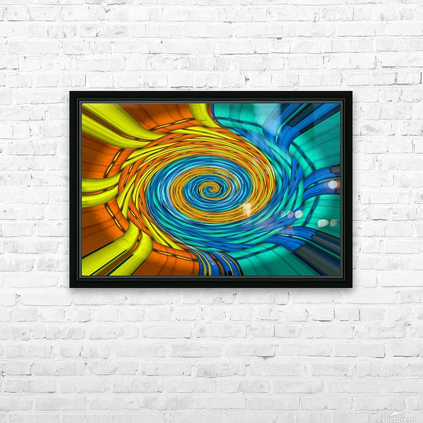 Magic Swirl HD Sublimation Metal print with Decorating Float Frame (BOX)