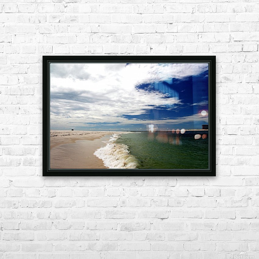 Shoreline HD Sublimation Metal print with Decorating Float Frame (BOX)
