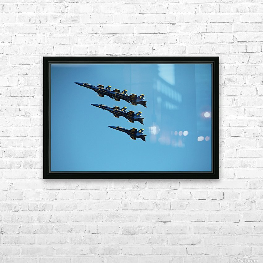 USN Blue Angels Formation HD Sublimation Metal print with Decorating Float Frame (BOX)