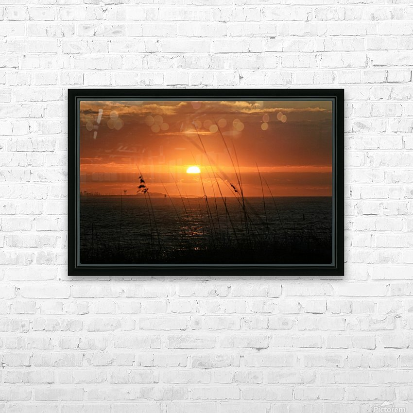 Sea Grass Sunset HD Sublimation Metal print with Decorating Float Frame (BOX)