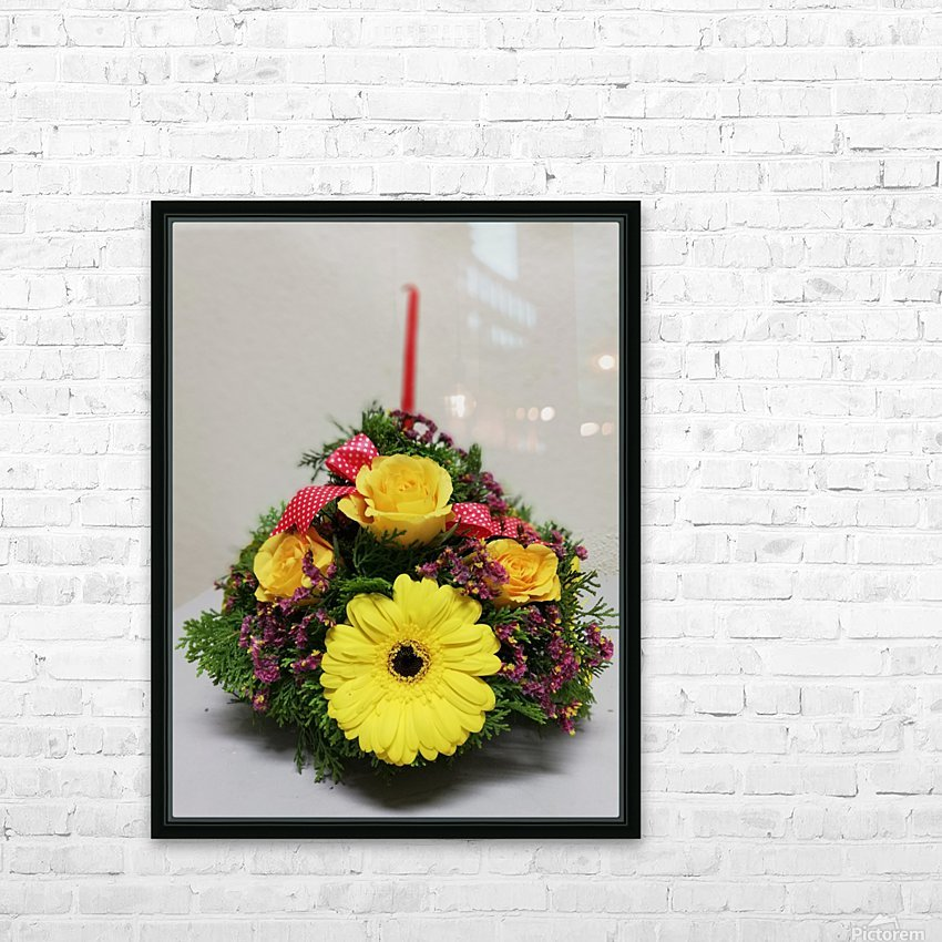 Flower —feel of Happy Merry Christmas coming HD Sublimation Metal print with Decorating Float Frame (BOX)