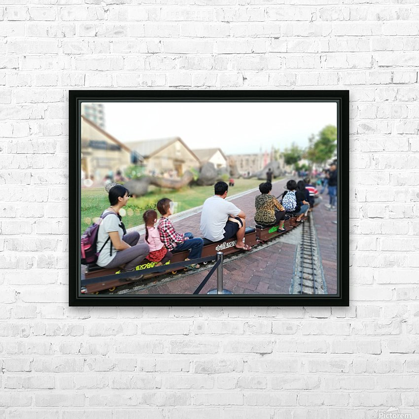 I find a unique train! HD Sublimation Metal print with Decorating Float Frame (BOX)
