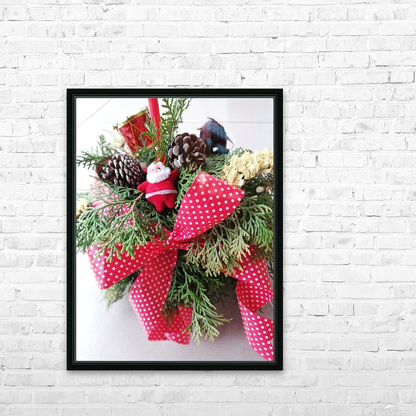 Merry Christmas Day HD Sublimation Metal print with Decorating Float Frame (BOX)
