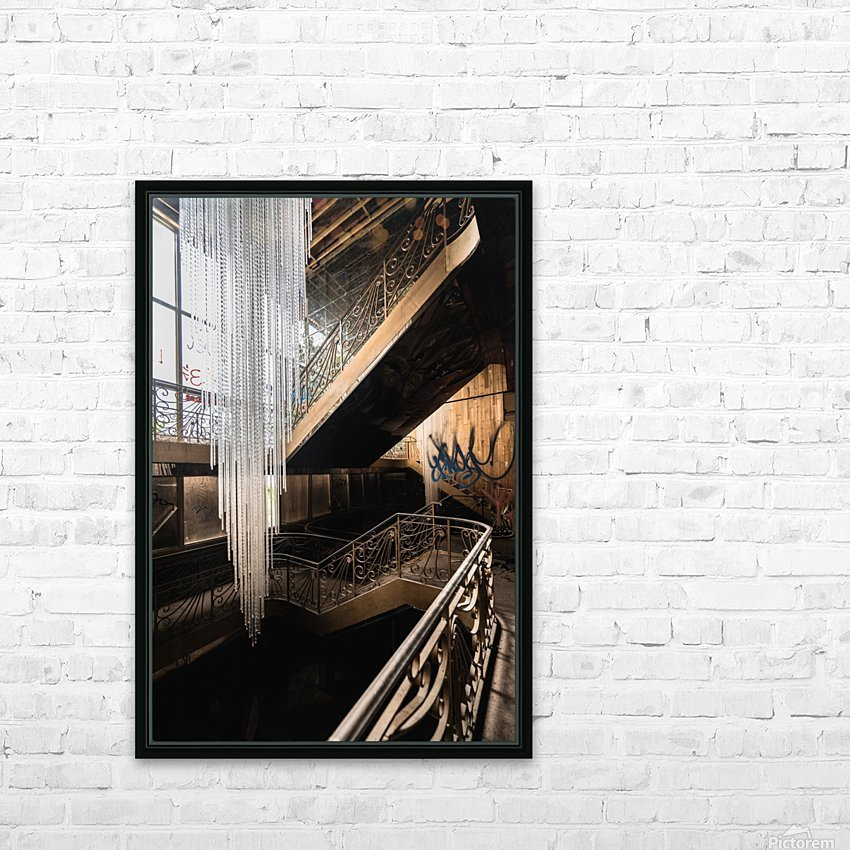 Abandoned Synagogue Icicle Chandelier HD Sublimation Metal print with Decorating Float Frame (BOX)