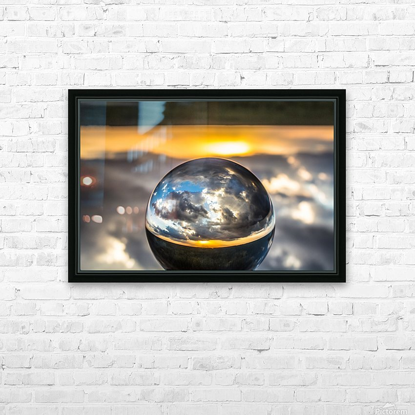 Lens Ball7 HD Sublimation Metal print with Decorating Float Frame (BOX)