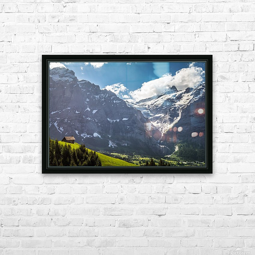 Hut Overlook HD Sublimation Metal print with Decorating Float Frame (BOX)