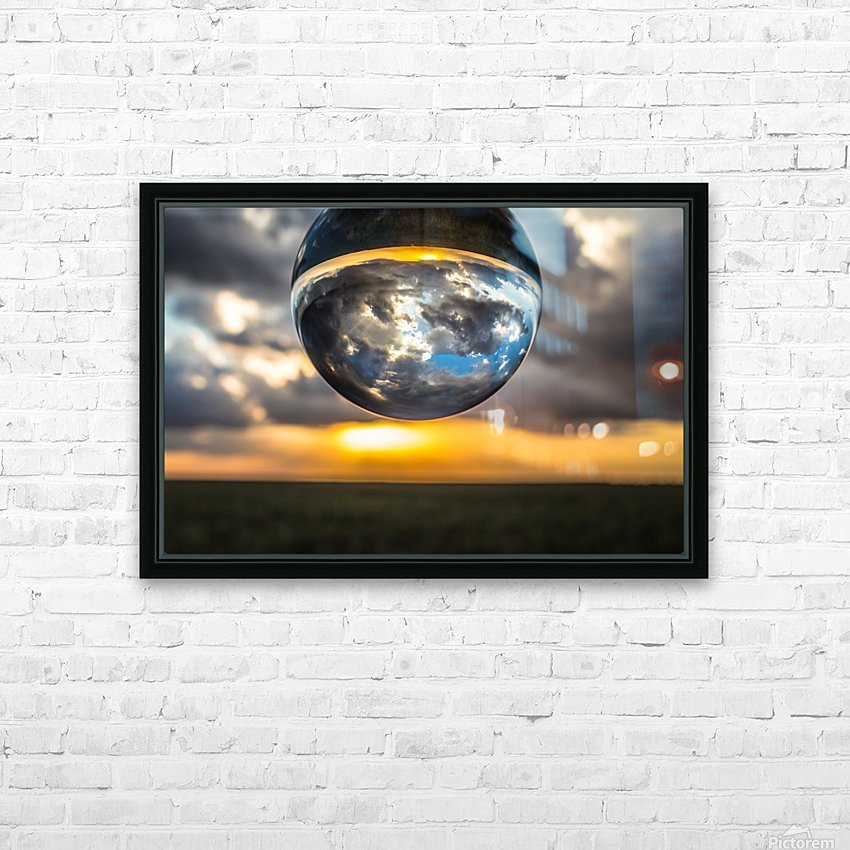 Lens Ball2 HD Sublimation Metal print with Decorating Float Frame (BOX)