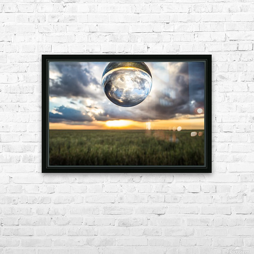 Lens Ball HD Sublimation Metal print with Decorating Float Frame (BOX)
