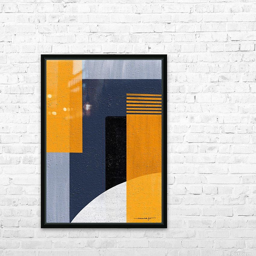 Abstract Geometric Space 1 HD Sublimation Metal print with Decorating Float Frame (BOX)