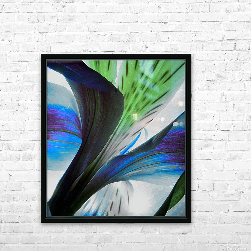 Vibrant Iris HD Sublimation Metal print with Decorating Float Frame (BOX)