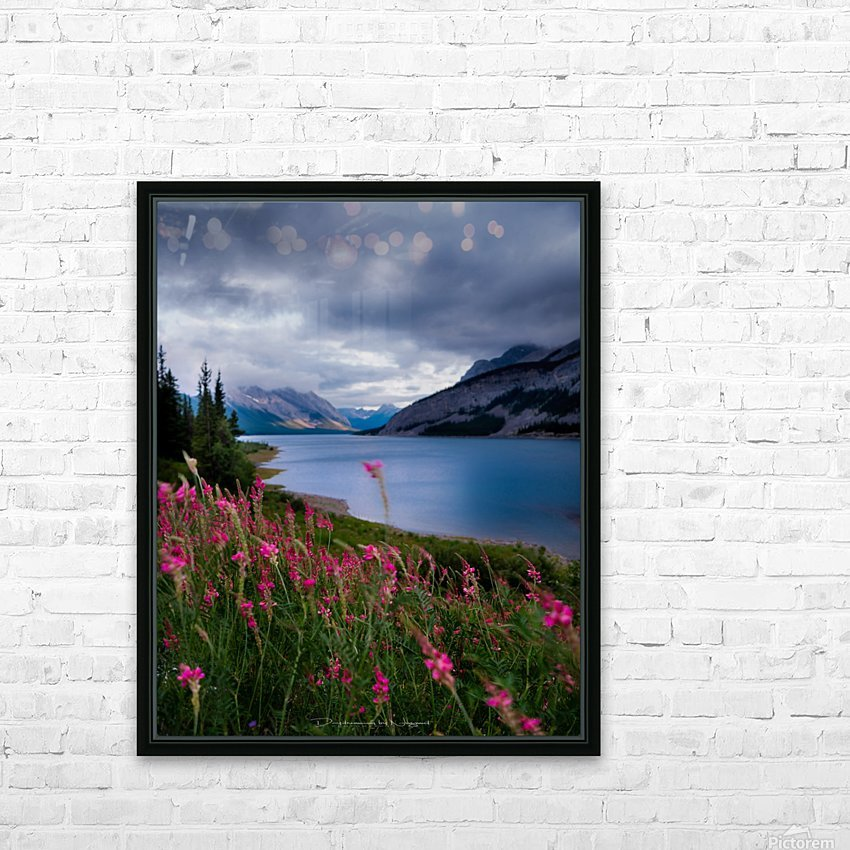 Spray lake  HD Sublimation Metal print with Decorating Float Frame (BOX)