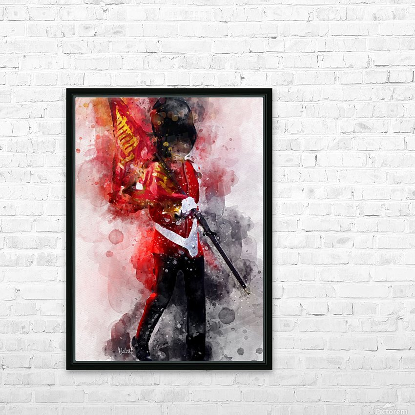 The Queens Guard HD Sublimation Metal print with Decorating Float Frame (BOX)