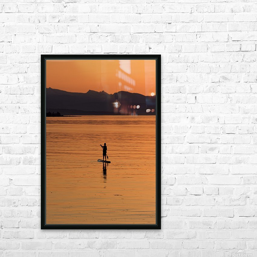 The paddleboarder HD Sublimation Metal print with Decorating Float Frame (BOX)