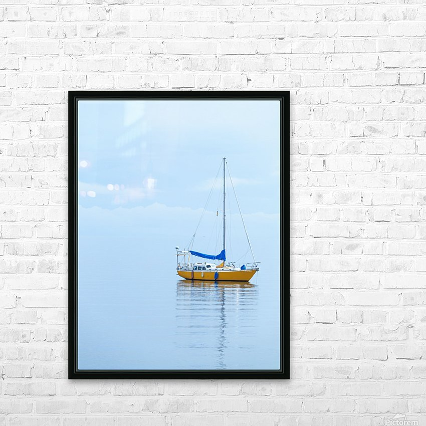 Where the ocean meets the sky HD Sublimation Metal print with Decorating Float Frame (BOX)