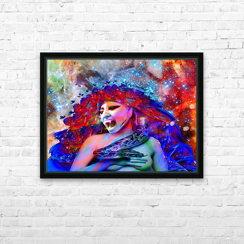 Space Vampire HD Sublimation Metal print with Decorating Float Frame (BOX)