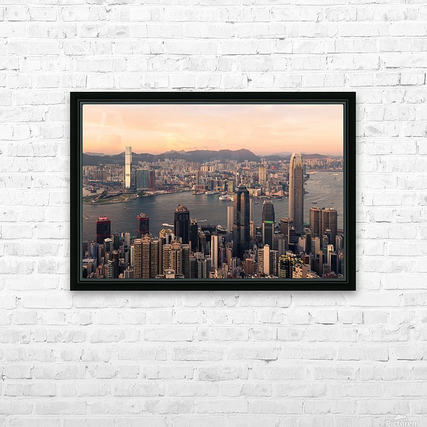 HONG KONG 08 HD Sublimation Metal print with Decorating Float Frame (BOX)