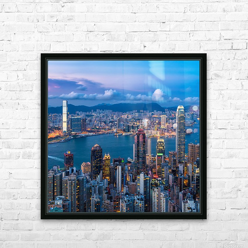 HONG KONG 31 HD Sublimation Metal print with Decorating Float Frame (BOX)