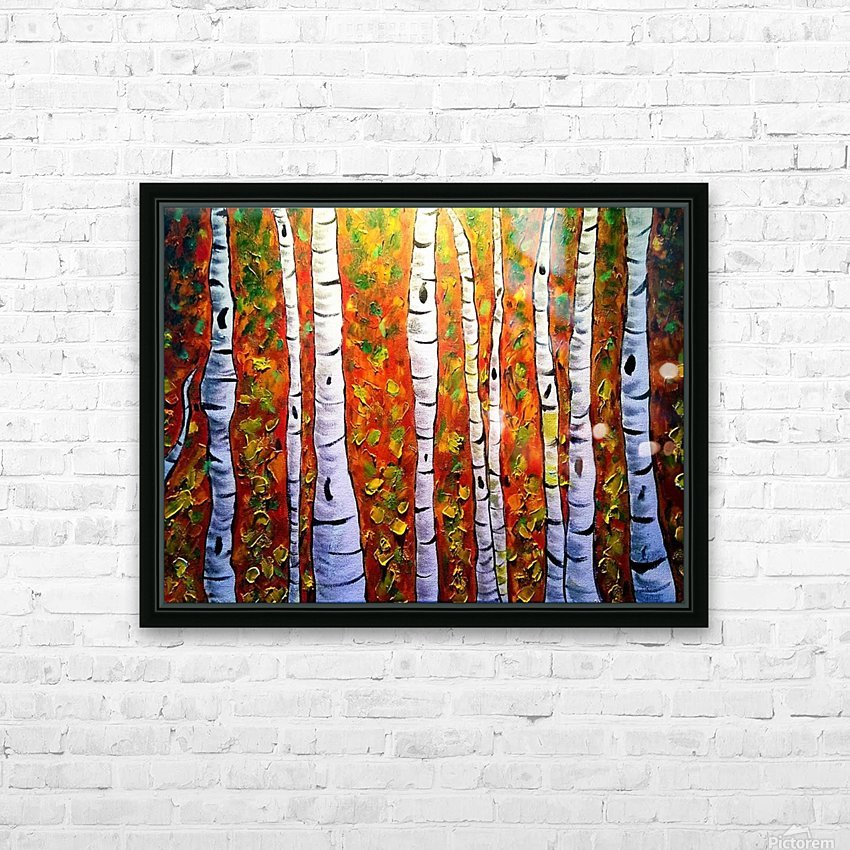 Funky Fall Birch HD Sublimation Metal print with Decorating Float Frame (BOX)