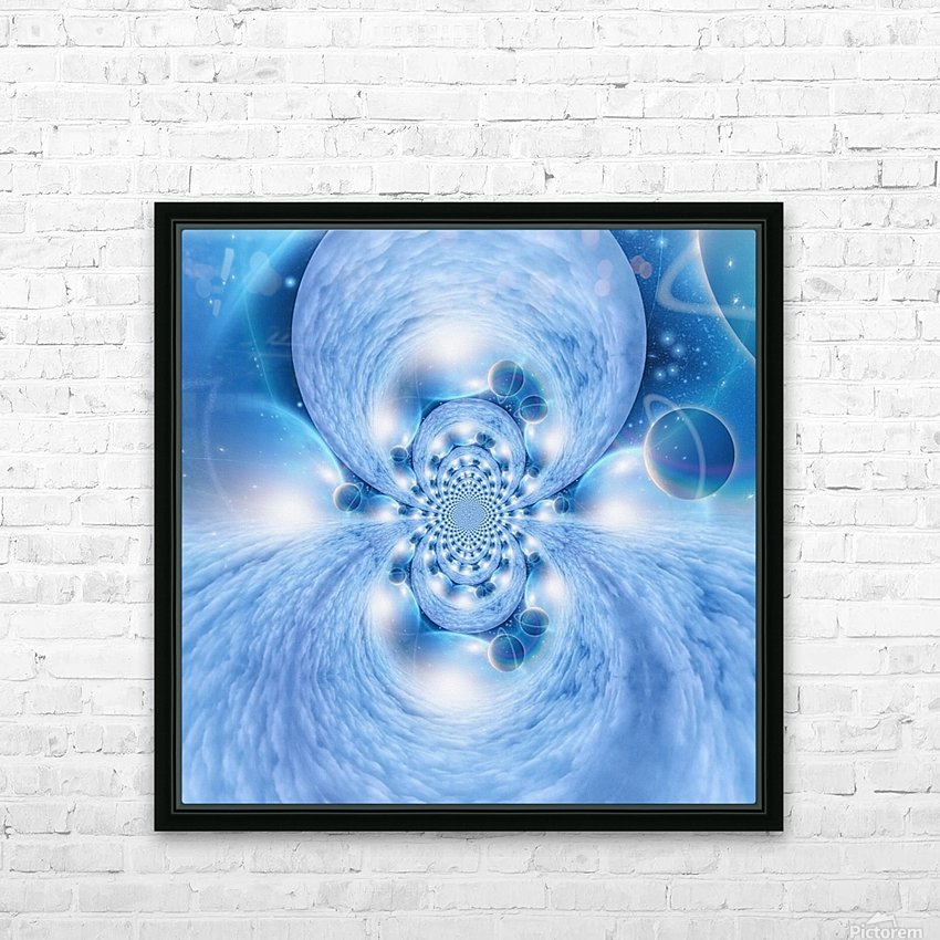 Planetarium Fractal HD Sublimation Metal print with Decorating Float Frame (BOX)